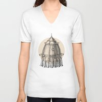 steam punk V-neck T-shirts featuring Steam punk rocket by grop