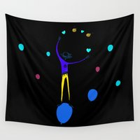 ballon Wall Tapestries featuring Malabares by flydesign
