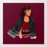 archer Canvas Prints featuring Archer by shirley