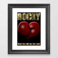 He Beat Them with Heart, Not Muscle - Rocky Framed Art Print
