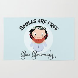 Smiles are free - give generously Rug