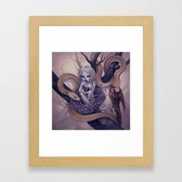 Snake Child Framed Art Print
