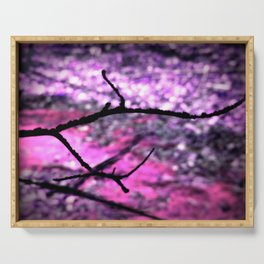 Pink Lavender Nature Abstract Serving Tray