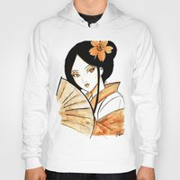 geisha Hoodies featuring Geisha by KuroCyou
