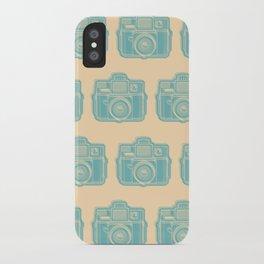 I Still Shoot Film Holga Logo - Reversed Turquoise/Tan iPhone Case