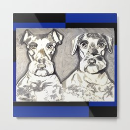 Brother Dogs Metal Print