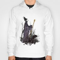 maleficent Hoodies featuring Maleficent by Louise Hubbard