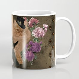 Cute Cavalier King Charles Spaniel and cat Coffee Mug
