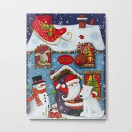 Santa's House Metal Print