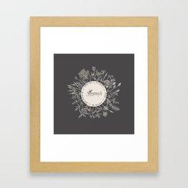 Dear Sassenach in Grey Framed Art Print