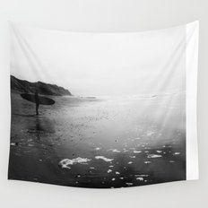 Surfer Standing on the Beach  Wall Tapestry