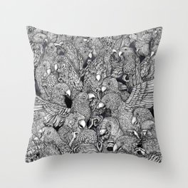 Birds of a feather .. Throw Pillow