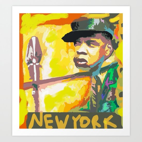 JAY Z's NEW YORK BY Cd Kirven Art Print