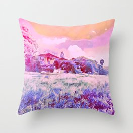 In A Field Of Roses She Is A Wild Flower Throw Pillow