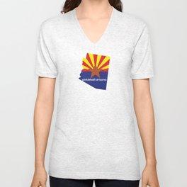 Pickleball Arizona State Flag Unisex V-Neck