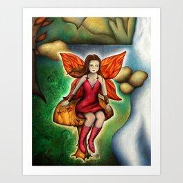 Autumn Fairy Art Print