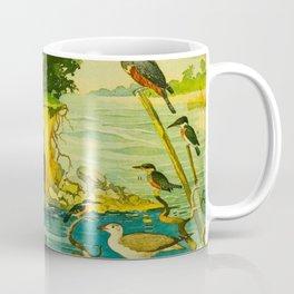 Amazonian birds by Göldi & Emil August, 1859-1917 Belem Brazil Colorful Tropical Birds Illustration Coffee Mug