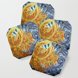 Chinese Phoenix and Dragon Mandala Coaster