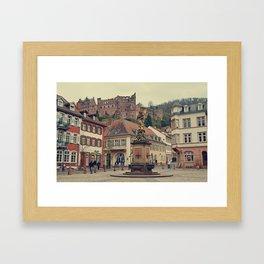 Heidelberg Town Square Framed Art Print