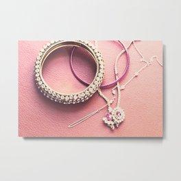 Jewelry in a Warm Background  Metal Print