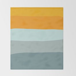 Zen Ocean Stripes Throw Blanket