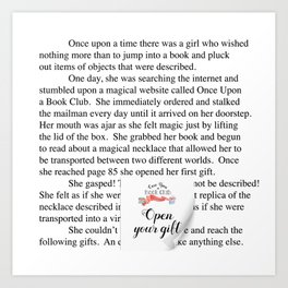 Once Upon a Book Club Art Print