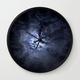 Full moon at night Wall Clock