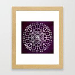 Rosette Window - Violet Framed Art Print
