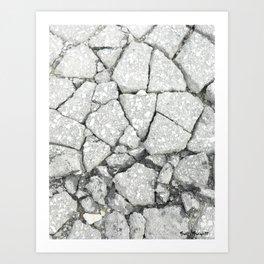 Made of Stone Art Print