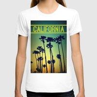 california T-shirts featuring CALIFORNIA by RichCaspian