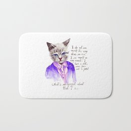 Fashion Mr. Cat Karl Lagerfeld and Chanel Bath Mat