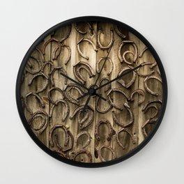 Horseshoes Wall Clock
