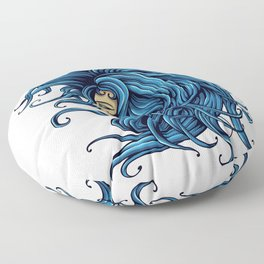 Lady In The Blue for people who like  fantasy legends and mythical creatures  Floor Pillow