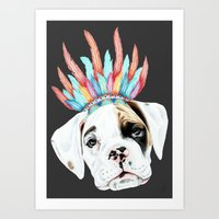 puppy Art Prints featuring Puppy by 13 Styx