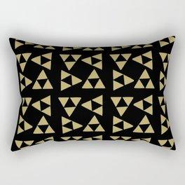 Print 127 - the legend of Zelda Triforce - Black Rectangular Pillow