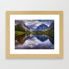Misty Fiords Lake Framed Art Print