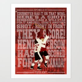 """Henderson has scored for Canada!"" Art Print"