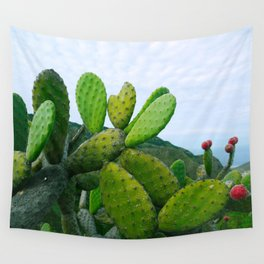 Prickly Pear Opuntia Succulent Wall Tapestry