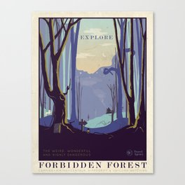 Explore The Forbidden Forest Canvas Print