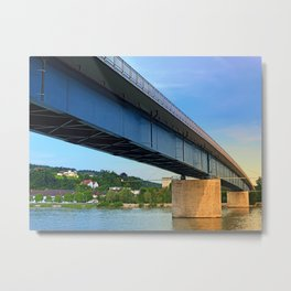 Bridge across the river Danube II | architectural photography Metal Print