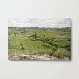 North Dakota Fields of Green Metal Print