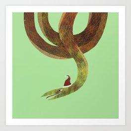 Christmas Snake Art Print