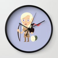 mother of dragons Wall Clocks featuring Elven Mother of Dragons by Haragos