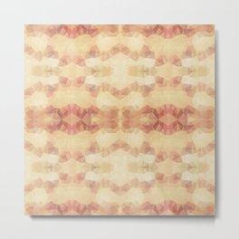 Mozaic design in soft beige colors Metal Print