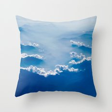 The Clouds of the Mountains Throw Pillow