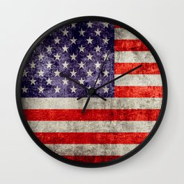 Antique American Flag Wall Clock