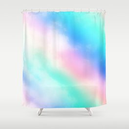 Rainbow Pastel Clouds Shower Curtain