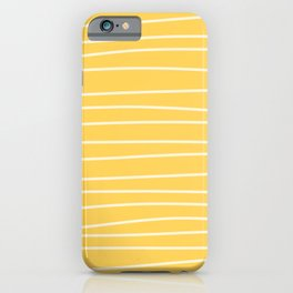 Sunshine Brush Lines iPhone Case
