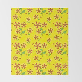 Doxie Flower - Dachshund Dog - Weiner Dog - Weenie Dog Throw Blanket