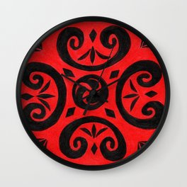 Untitled (Cover Design for Notebook) Wall Clock